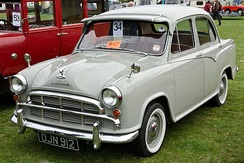 The Morris Oxford Series III, launched in 1955-56, only had a short production run in the UK, but it was manufactured in India as the Hindustan Ambassador by Hindustan Motors with periodic changes till 2014