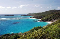 The island of Mustique in the Grenadines