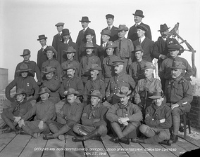 Legion of Frontiersmen, Edmonton Command, 1915 -- a nationalist paramilitary group not officially affiliated with the Canadian Army