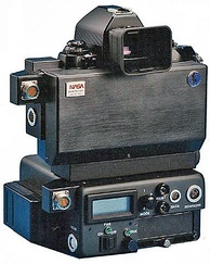 Nikon NASA F4 back view with Electronics Box, launched on STS-48 September 1991