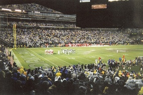 The 2002–03 AFC Champion Oakland Raiders playing at home to the Kansas City Chiefs on December 28, 2002
