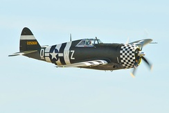 P-47 Thunderbolt 42-25068 at Duxford Air Show, 2012