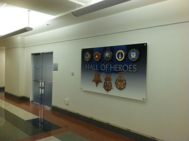 The Hall of Heroes on the main concourse
