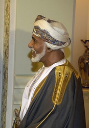 H.M. Sultan Qaboos bin Said al Said, the current Sultan of Oman from the Al Said dynasty.