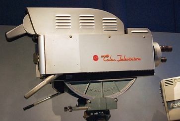 1954 RCA TK-41C dolly-mounted color broadcast camera