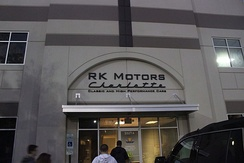 The entrance to RK Motors Charlotte, one of Kauffman's Subsidiaries.