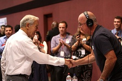 Doyle with Congressman Ron Paul in September 2011