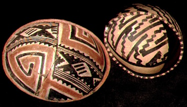 Salado Polychrome pottery from Tonto National Monument
