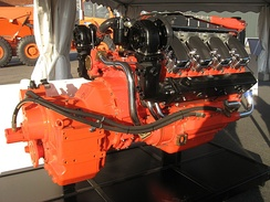 Scania V8, 16-litre marine engine with reverse. It's the same engine that Scania uses in the trucks