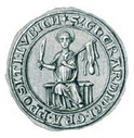 Seal of Gerhard IV as Provost of Luebeck, c. 1302-1304