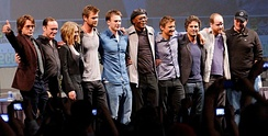 The cast of Marvel's The Avengers (2012), one of the most commercially successful superhero films