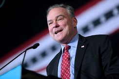 Kaine speaking at a campaign event in Phoenix, Arizona in November 2016.