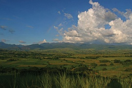 The Cagayan Valley at Cabagan with the Sierra Madre mountains in the background