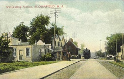 Watsessing Avenue station on the Montclair Branch pre-depression in 1912
