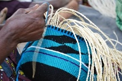 Basket-weaving, one of the traditional skills of the Kamba.