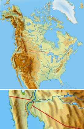 Cocopah traditional territory on the Colorado River and the Gulf of California