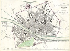 1835 City Map of Florence, still largely in the confines of its medieval city centre.