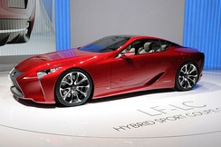 Lexus LF-LC concept at the 2012 Geneva Auto Show.