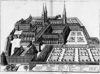 The Abbey of Saint‑Germain‑des‑Prés c. 1687