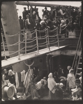 Alfred Stieglitz's photograph The Steerage (1907) was an early work of artistic modernism, and considered by many historians to be the most important photograph ever made.[1]  Stieglitz was notable for introducing fine art photography into museum collections.