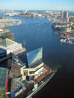 Eastward view Baltimore's Inner Harbor