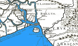 Early Dutch map of Bengal