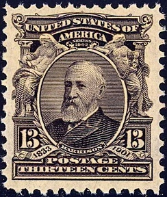 The 1st Harrison stampIssue of 1902