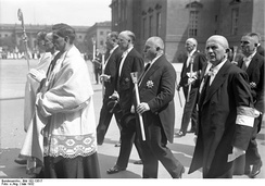 Brüning and others at Corpus Christi Procession, 1932