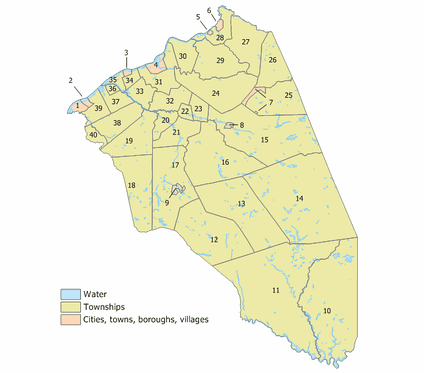 Index map of Burlington County Municipalities (click to see index key)