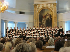 The boychoir Cantores Minores in the Helsinki Cathedral in 2013