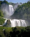 Marmore waterfall, the world's tallest man-made waterfall, was created by the ancient Romans.