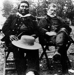 Chief Joseph and Col. John Gibbon met again on the Big Hole Battlefield site in 1889