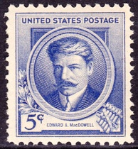 Edward A. MacDowell, US Postage, Issue of 1940