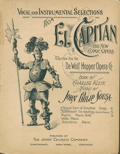 Sheet music cover, 1896