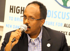 President and former Prime Minister Mohamed Abdullahi Mohamed, founder and Secretary-General of the Tayo Political Party