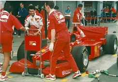 Ferrari placed second in the Constructors' Championship