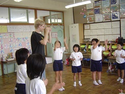 A primary school class in Japan
