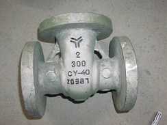 A gate valve, made from Inconel.