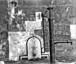 Memorial behind the Iron Curtain: Lennon Wall in Prague, August 1981