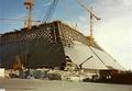 Строительство пирамиды, апрель 1993 года.