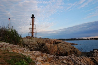 Marblehead Light, at the northern tip of Marblehead Neck