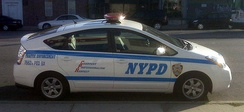 Toyota Prius used by NYPD Traffic Enforcement