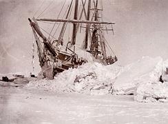 Корабль Нансена «Фрам» во льдах Арктики (1895 год)