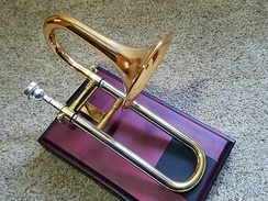 Piccolo trombone made by Wessex