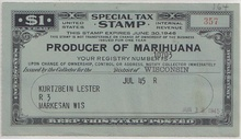 "United States ""Marihuana"" production permit. In the United States, hemp cultivation is legally prohibited, but during World War II farmers were encouraged to grow hemp for cordage, to replace Manila hemp previously obtained from Japanese-controlled areas. The U.S. government produced a film explaining the uses of hemp, called Hemp for Victory."