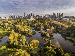 Aerial view of the Royal Botanic Gardens