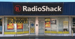 The effects of a liquidation sale at this typical RadioShack outlet in Miami, Florida (2016).