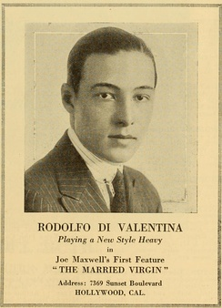 Valentino in an advertisement for The Married Virgin (1918) in which he portrays a villain