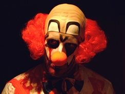 """Evil clown"" makeup and costume"
