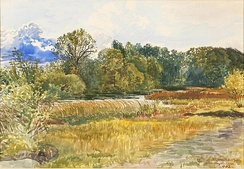 Autumn landscape in Rybiniszki, Latvia, watercolor by Stanisław Masłowski, 1902 (National Museum in Warsaw, Poland)